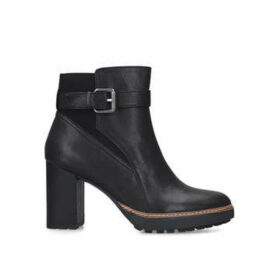 Naturalizer Cora - Black Ankle Boot With Chunky Heel