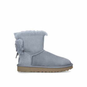 Ugg Classic Double Bow Mini - Grey Ugg Boot With Bows