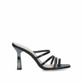 Carvela Goddess - Black Snake Print Stiletto Heel Strappy Sandals