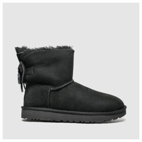 Ugg Black Classic Double Bow Mini Boots