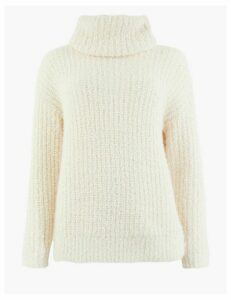M&S Collection Textured Cowl Neck Jumper