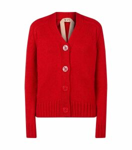 Embossed Buttons Knitted Cardigan