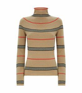 Cashmere Icon Stripe Sweater