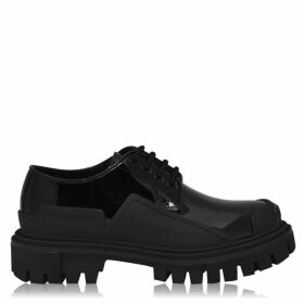 Dolce and Gabbana Patent Leather Trekking Derby Shoes