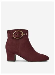 Womens Wide Fit Oxblood 'Argo' Boots- Red, Red
