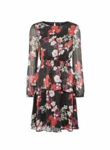 Womens **Vero Moda Black Floral Print Dress, Black