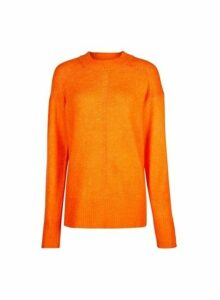Womens **Tall Orange Chunky Knit Jumper, Orange