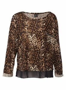 Womens *Izabel London Brown Animal Print Top- Brown, Brown