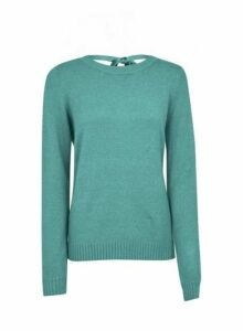 Womens **Vila Blue Tie Back Jumper, Blue