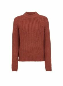 Womens **Vero Moda Brown High Neck Jumper- Brown, Brown