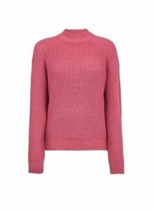 Womens **Vero Moda Pink High Neck Jumper- Pink, Pink