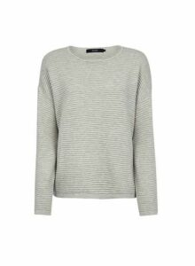 Womens **Vero Moda Grey Ribbed Top, Grey
