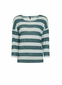 Womens **Vero Moda Multicolour Mint Stripe Top- Green, Green