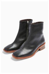 Womens Valley Vegan Black Flat Boots - Black, Black