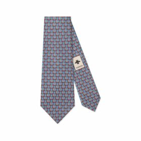 Double G and hearts silk tie