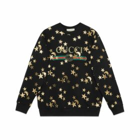 Sweatshirt with stars and moon print
