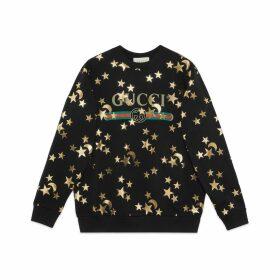 Sweatshirt with stars and moon print