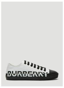 Burberry Two-Tone Logo Print Sneakers in White size EU - 40