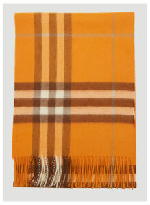 Burberry Vintage Check Scarf in Orange size One Size