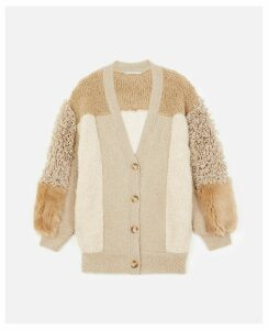 Stella McCartney MULTICOLOR FUR FREE FUR Cardigan, Women's, Size 4