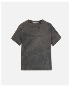 Stella McCartney Black Logo T-shitrt, Women's, Size 14