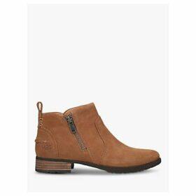 UGG Aureo II Suede Zip Boots, Brown