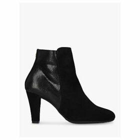 Carvela Comfort Rosie Leather Block Heel Ankle Boots, Black