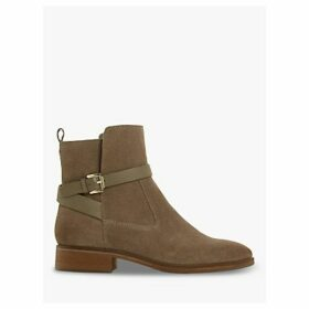 Dune Patrizo Wrap Strap Suede Ankle Boots