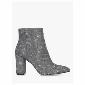 Carvela Shine Block Heel Ankle Boots, Pewter