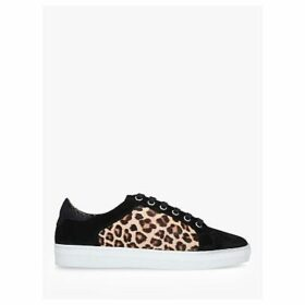 Carvela Jackal Suede Low Top Trainers, Black/Multi