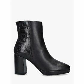 Carvela Tiptoe Block Heel Ankle Boots, Black