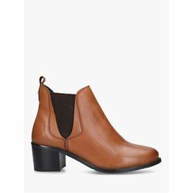 Carvela Comfort Ronald Block Heel Leather Ankle Boots