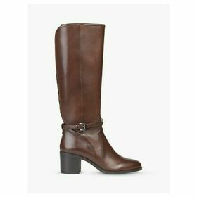 Geox Women's Glynna Leather Block Heeled Knee High Boots