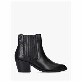 Kurt Geiger London Sylvie Leather Block Heel Ankle Boots, Black