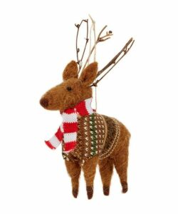 Deer With Scarf Ornament