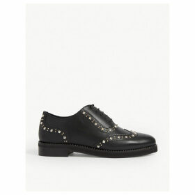 Alexis studded leather Derby shoes