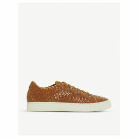 Endeavore leather trainers