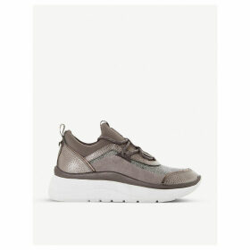 Essio mixed-panel trainers