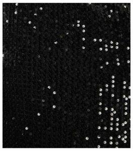 Mela Curves Black Sequin Velvet Shift Dress New Look