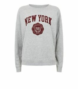 Grey New York Slogan Sweatshirt New Look