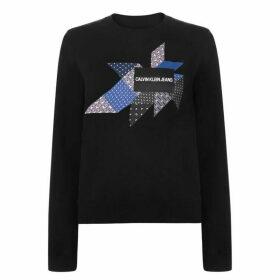 Calvin Klein Jeans Quilt Graphic Sweatshirt