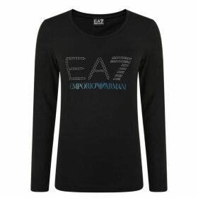 EA7 Logo Long Sleeve T Shirt