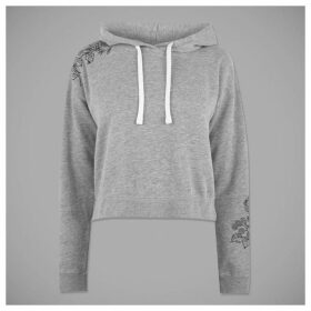 Jack Wills Merrial Embroidered Hoodie - Grey