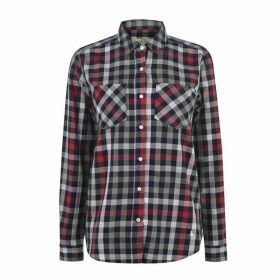 Jack Wills Breighton Boyfriend Check Shirt - Grey/Dark Red