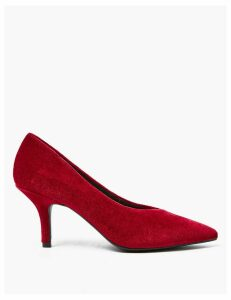 M&S Collection Velvet Pointed Toe Court Shoes