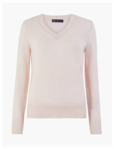 M&S Collection Wool Rich V-Neck Jumper