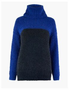 M&S Collection Colour Block Cowl Neck Jumper