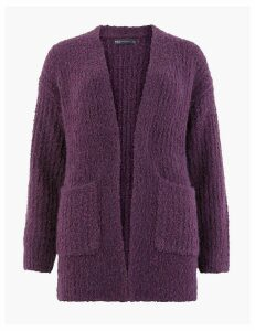 M&S Collection Glacier Textured Edge To Edge Cardigan