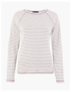 M&S Collection Striped Straight Fit Top
