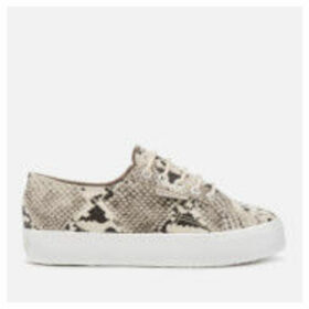 Superga Women's 2730 Synthetic Snake Trainers - Taupe Black